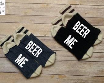 Beer Me Socks, Wine Socks, Novelty Scoks, If You Can Read This Bring More Wine, If you can read this socks, Dad socks, Mens Socks