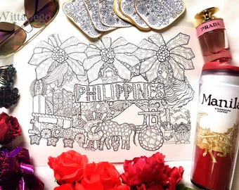 Coloring Page/Illustration PHILIPPINES
