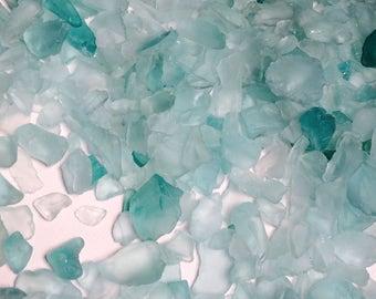 Seafoam small sea glass/beachglass