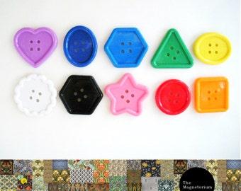 Shapes Button Fridge Magnet Set