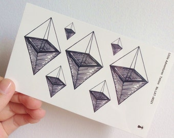 X-Ray Cone - Temporary Tattoos // Geometry // Cool // Travel // Tumblr Style // Summer // Party