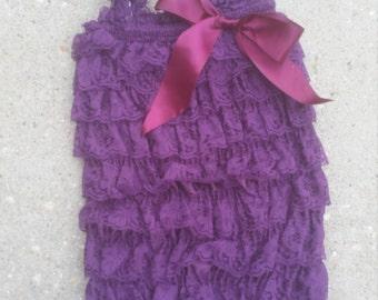 Deep Purple Lace Romper
