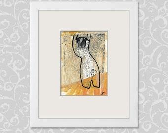 "Figural reaction - beautiful expressive image ""Torso"""