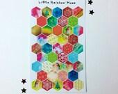 Christmas hexagon stickers