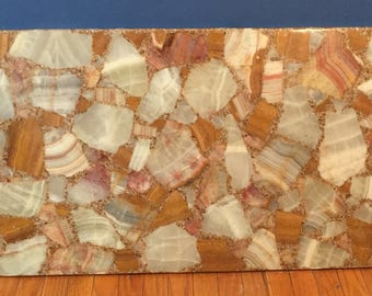 Mexican Onyx and Resin Coffee Table Top Vintage
