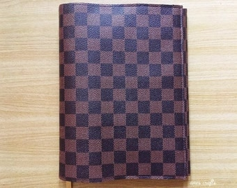 Handmade Monogram Pattern Book Cover Book Case Paperback With BookMark Ribbon