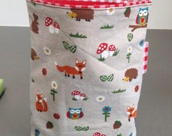Reusable sandwich bag/Hedgehog