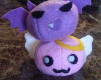 Little Angeling and Deviling Poring Monster Plushies