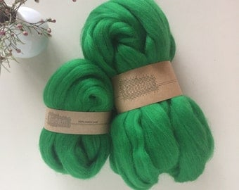 Merino Wool Roving 760 Emerald Green