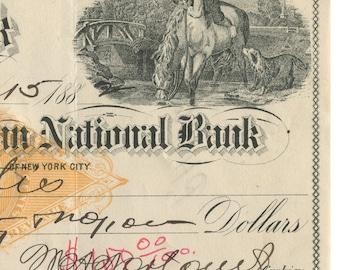 1882 Kenton Savings Bank Check Ephemera