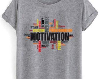 Motivational Performance Sublimation Print Sports T-shirt