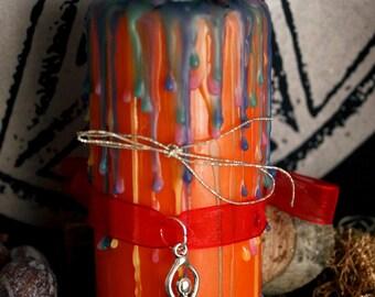East ARA candle - altar candle - Ostaracandle - unique - one of a kind
