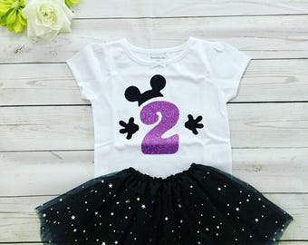 Girl's Second Birthday outfit, 2 Birthday set, Birthday Girl Second outfit, Custom made Birthday outfit