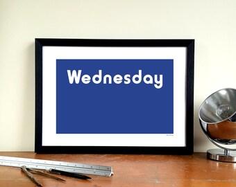 "Sheffield Wednesday Minimalist Graphic Design Art Print - Hillsborough ""Kop Exterior"""