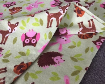 "40"" Flannel Receiving Blanket - Forest Friends"