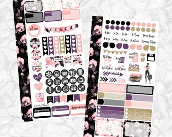 Girl Boss PERSONAL Kit (matte planner sticker, Filofax, Kikki K, Websters Pages, Color Crush)