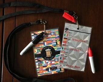 Drink Around the World Showcase Epcot Passport with Lanyard and Marker