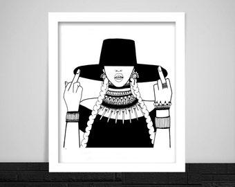 Beyonce Print
