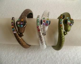 Snake Orient Style Bracelet With Glasses Diamonds Decoration, Women Gift Idea,