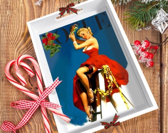 CHRISTMAS! Vogue Pin-Up 'Cindy' Tray