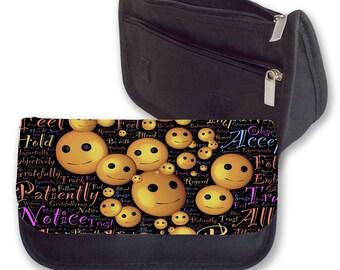 Emoji WORDS Smilies Pencil Case / Clutch or Make up Bag