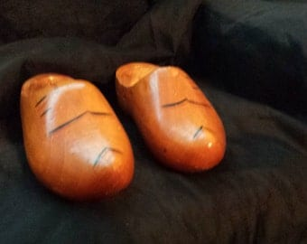 Clogs Vintage Wood