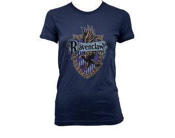 Ravenclw Crest #2 on Navy, White, Black and sport grey Women tee