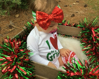 Baby girl headband, Christmas headband, toddler headband, newborn headband, Christmas outfit