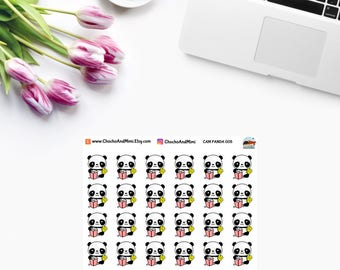 Amanda The Panda ~ CINEMA ~ Movie Night ~ Netflix Binge ~ Planner Stickers CAM PANDA 005