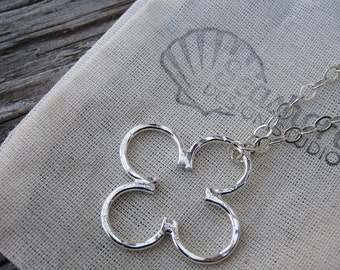 Mama metal/modular jewelry Clover fine silver charm // made to order