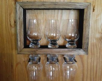 GLENCAIRN GLASS Display (For Six) with 6 CUSTOM Engraved Glasses