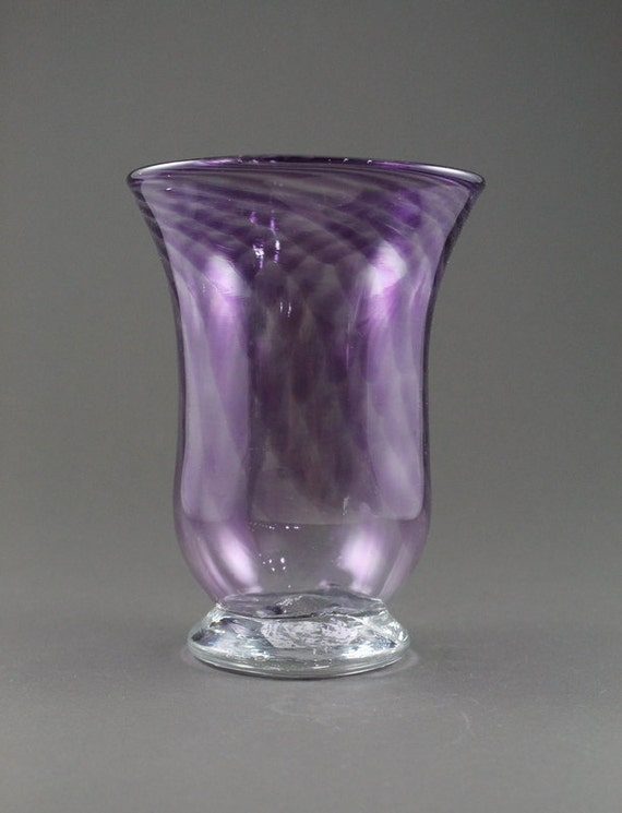 Hand Blown Footed Glass Vase