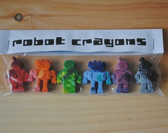 Robot Crayons - Pack of 6 and Party Favors