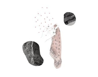 In Between Two Rocks Illustration