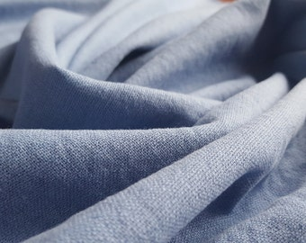 Linen Mix Dressmaking Fabric - Periwinkle Blue - UK Seller