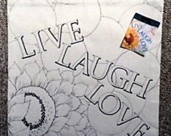 """Fun To Finish """"Live, Laugh, Love"""" Canvas Tote"""