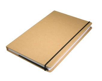 Kraft paper notebook FSC mix credit, 9 x 14 x 1.5 cm, 100 sheets, 80 GSM
