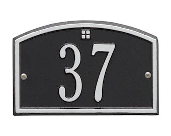 Cape Charles Petite Personalized Address Plaque