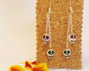 Mexican sugar skull earrings. Sugar skull earings
