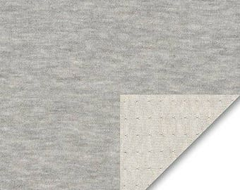 Grey Double Layer Jersey from Robert Kaufman- 1/2 Yard