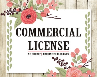 35%off Commercial License for Commercial Use of Patterns & ClipArts