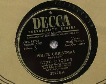 Bing Crosby White Christmas, Vintage Vinyl Record, Irving Berlin Music, Christmas Music