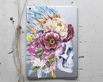 Floral Skull iPad Case iPad Mini iPad Air iPad Pro 12.9 iPad Pro 9.7 iPad Mini 4 iPad Mini 2 iPad Air 2 iPad Mini 4 Case iPad Air 2 WC4015