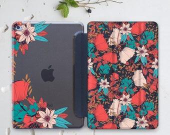 Floral iPad Pro Case 12.9 iPad Air 2 Case Clear Case iPad Mini 4 iPad Pro 9.7 Case Flower iPad 4 Case iPad 10.5 Case Hard Case iPad 3 WC4505