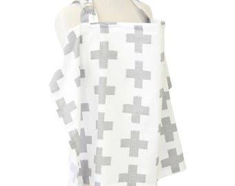 Grayson's Gray | Gray and White Nursing Cover
