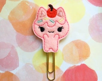 Planner Clip, Cherry Cupcake, Kitty Cat