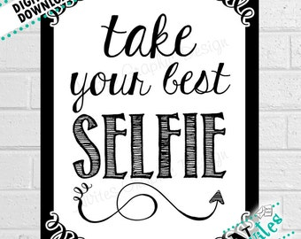 Wedding Photo Booth Props, Wedding Photo Booth Signs, Selfie Prop, Selfie Photo Booth, Grab a Prop, Photo Prop Party Decor | PRINTABLE