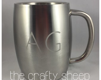Etched Stainless 14oz Mug