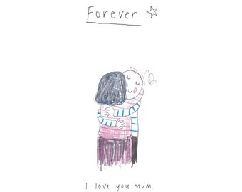 FOREVER - print from the popular 'Sketchy Muma' series written and illustrated by Anna Lewis.