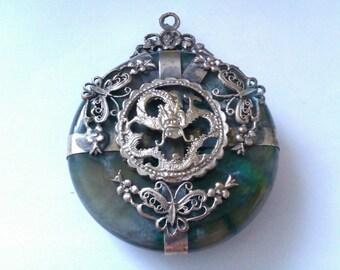 vintage Chinese dragon pendant